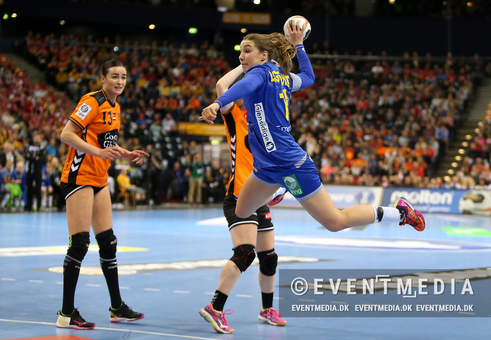 Anna Lagerquist (#19, Sweden). Bronze medal match between Sweden and Netherlands at the 2017 IHF Women's World Championship in Barclaycard Arena, Hamburg, Germany, 17.12.2017. Photo Credit: Allan Jensen/EVENTMEDIA.