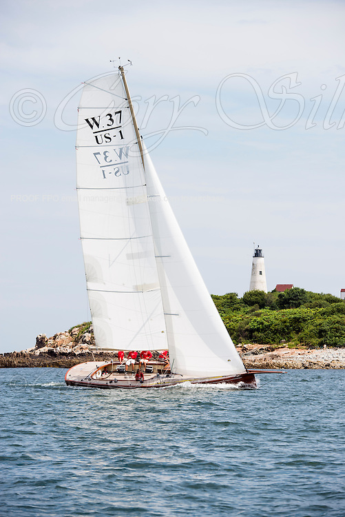 Race Horse sailing in the Marblehead Corinthian Classic Yacht Regatta, day two.