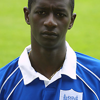 St Johnstone FC photocall season 2001/02<br />Momo Sylla<br /><br /><br />Picture by Graeme Hart.<br />Copyright Perthshire Picture Agency<br />Tel: 01738 623350  Mobile: 07990 594431