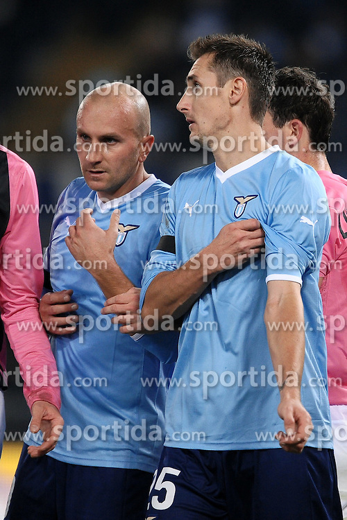 26.11.2011, Olympiastadion, Rom, ITA, Serie A, AS Rom vs Juventus Turin, 13. Spieltag, im Bild Tommaso ROCCHI e Miroslav KLOSE Lazio // during the football match of Italian 'Serie A' league, 13th round, between Lazio Rom and Juventus Turin at Olympic Stadium, Rome, Italy on 2011/11/26. EXPA Pictures © 2011, PhotoCredit: EXPA/ Insidefoto/ Andrea Staccioli..***** ATTENTION - for AUT, SLO, CRO, SRB, SUI and SWE only *****