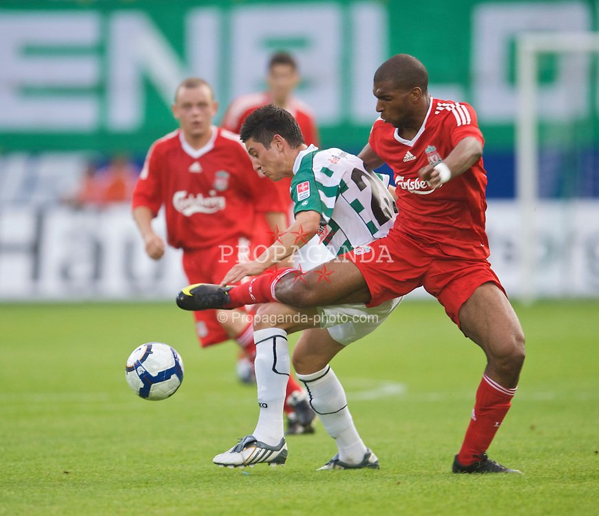 ST GALLEN, SWITZERLAND - Wednesday, July 15, 2009: Liverpool's Ryan Babel during their opening preseason friendly match against FC St Gallen at the AFG Arena. (Pic by David Rawcliffe/Propaganda)