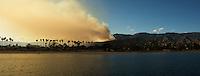 Santa Barbara fire on May 5 2009, shot from Sterns Wharf.