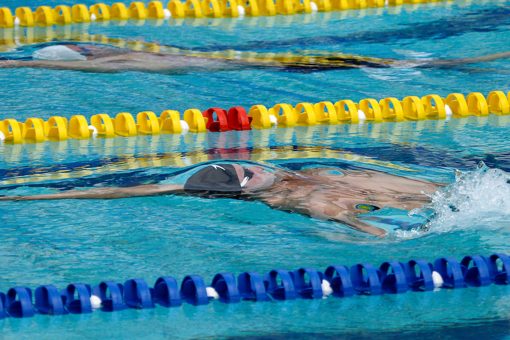 Belo Horizonte_MG, Brasil...Copa do Mundo de Natacao 2007. Na foto Randal Ball, dos EUA, vencedor da prova 50m Costas...Swimming World Cup 2007. In this photo the swimmer Randal Ball, of USA, He is the champion in the 50m backstroke, in Belo Horizonte...Foto: LEO DRUMOND / NITRO