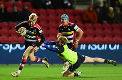 Mat Protheroe of Bristol Rugby makes a break  - Mandatory by-line: Alex Davidson/JMP - 08/12/2017 - RUGBY - Ashton Gate Stadium - Bristol, England - Bristol Rugby v Leinster 'A' - B&I Cup