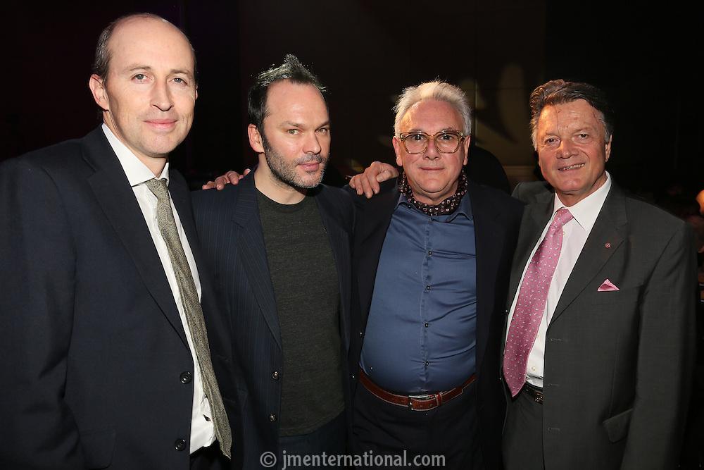 Peter Leathem,Nigel Godrich,  Trevor Horn & Fran Nevrkla (l-r) - The Music Producers Guild Awards :Thursday, Feb 13. 2014 (Photo John Marshall/JM Enternational)