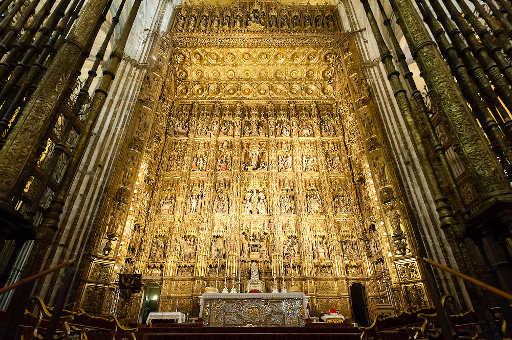 Altar of Sevilla Cathedral (Spain)