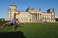 in the Reichstag's garden