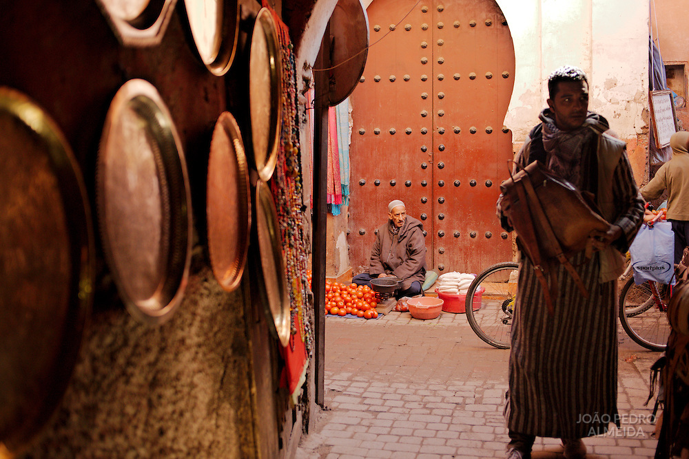 Morning activity at the shouk of Marrakech