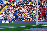 Ezgjan Alioski of Leeds United (10) has his shot blocked during the EFL Sky Bet Championship match between Leeds United and Bolton Wanderers at Elland Road, Leeds, England on 23 February 2019.