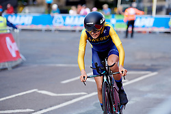 Wilma Olausson (SWE) at UCI Road World Championships 2019 Junior Women's TT a 13.7 km individual time trial in Harrogate, United Kingdom on September 23, 2019. Photo by Sean Robinson/velofocus.com