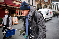 © Licensed to London News Pictures. 13/03/2019. London, UK. BORIS JOHNSON MP is seen leaving the studio of LBC following a radio phone in, the day after MPs voted to reject the PMs Brexit deal. Parliament Voted by a majority of 149 against the Prime Ministers deal, with a new vote on 'No Deal' being held this evening. Photo credit: Ben Cawthra/LNP