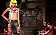 A model for designer Veda Apparell at the LadyFest Fashion Show at c{space in downtown Dayton, Saturday, August 7. 2010..