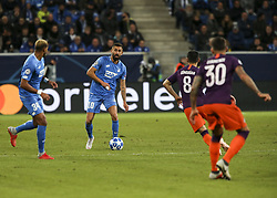 October 2, 2018 - Sinsheim, Germany - Kerem Kaderabek 10; seen in action during the UEFA Champions League group F football match between TSG 1899 Hoffenheim and Manchester City at the Rhein-Neckar-Arena. (Credit Image: © Elyxandro Cegarra/SOPA Images via ZUMA Wire)