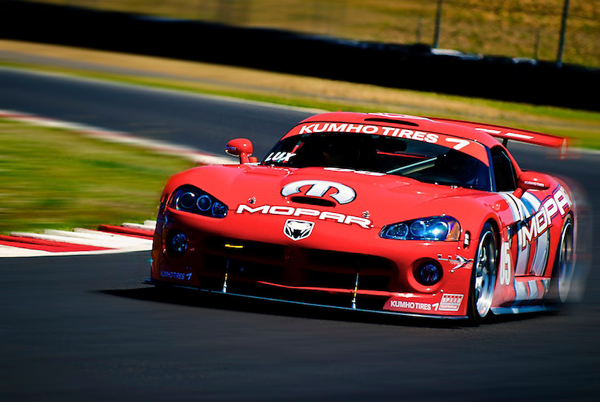 Team Naykid Racing puts their Dodge Viper through its paces during a track day at Portland International Racway in Portland, OR.