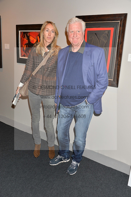 GERT-RUDOLPH FLICK and guest at the PAD London 10th Anniversary Collector's Preview, Berkeley Square, London on 3rd October 2016.