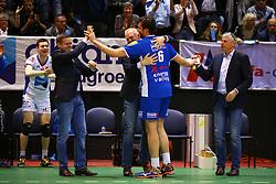 20160424 NED: Play off finale Abiant Lycurgus - Seesing Personeel Orion, Groningen<br />Afscheid wissel, Dennis van der Veen (6) of Abiant Lycurgus