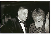 Naim Attalah; Arabella Pollen. LDC party. Harvey Nicholls. London. 19 March 1984. SUPPLIED FOR ONE-TIME USE ONLY> DO NOT ARCHIVE. © Copyright Photograph by Dafydd Jones 248 Clapham Rd. London sW9 0PZ. 0207 820 0771.  www.dafjones.com