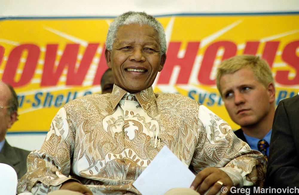 Mandela in Transkei, 24 February 1999