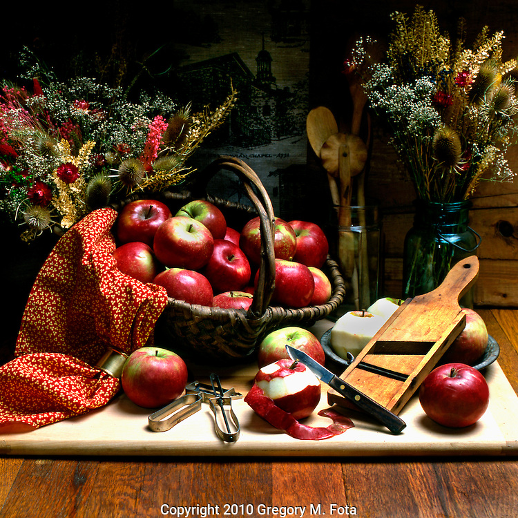 "MORAVIAN APPLE PIE Series--Fine art photograph from Bethlehem,PA-""The Christmas City,USA"". ...""Moravian Apple Pie_MacIntosh""-(#3 of 4.). Available for purchase -digital print hard copy only...05142010. Photo: Copyright Gregory M. Fota/Fotagraphy"