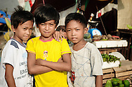 Philippines, Metro Manila. Boys from Bicutan.