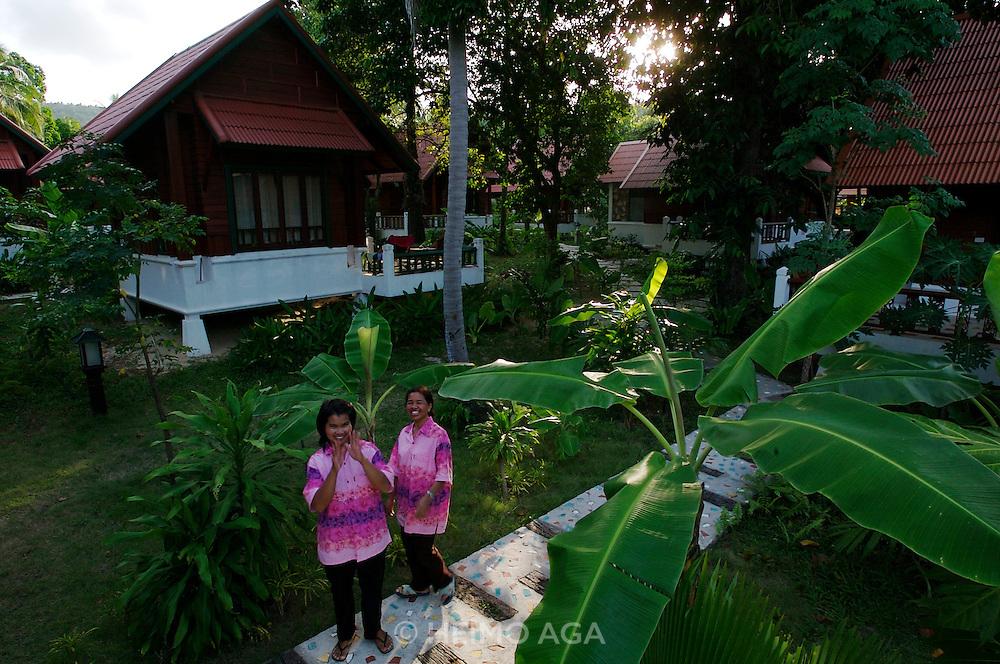 Hat Bo Phut (beach). Peace Bungalow Hotel.