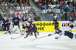 Trevor Lewis of USA vs Esa Lindell of Finland during Ice Hockey match between USA and Finland at Day 1 in Group B of 2015 IIHF World Championship, on May 1, 2015 in CEZ Arena, Ostrava, Czech Republic. Photo by Vid Ponikvar / Sportida