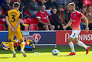 Salford City defender Scott Wisemanin possession of the ball during the EFL Sky Bet League 2 match between Salford City and Port Vale at Moor Lane, Salford, United Kingdom on 17 August 2019.