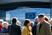 Open Day 2017 in Brussels - <br /> Visitors queue outside the ASP entrance #isopix #europeanparliament