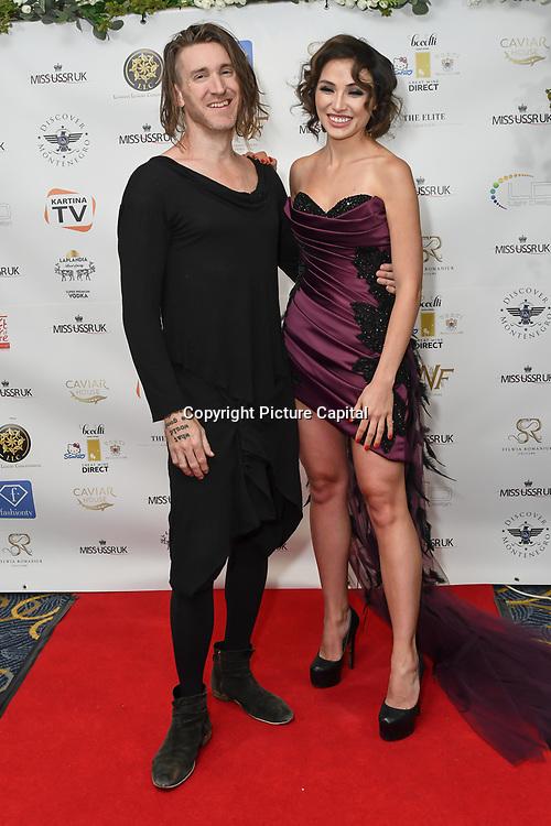 Dave Yaden and Irina Dedyuk attend the Grand Final MISS USSR UK 2019 at ton On Park Lane on 27 April 2019, London, UK.