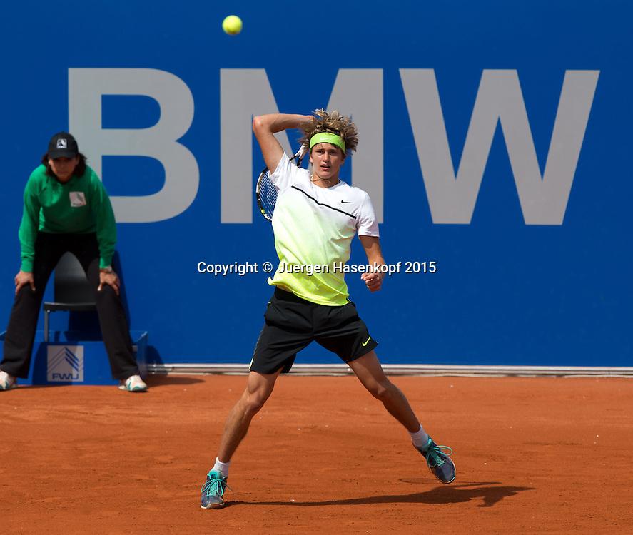 Alexander Zverev (GER)<br /> <br /> Tennis - BMW Open - ATP -   - Muenchen - Bayern - Germany  - 29 April 2015. <br /> &copy; Juergen Hasenkopf