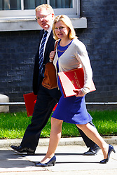© Licensed to London News Pictures. 12/05/2015. LONDON, UK. Scotland Secretary David Mundell and International Development Secretary Justine Greening attending to the first Conservative cabinet meeting after the 2015 general election in Downing Street on Tuesday, 12 May 2015. Photo credit: Tolga Akmen/LNP