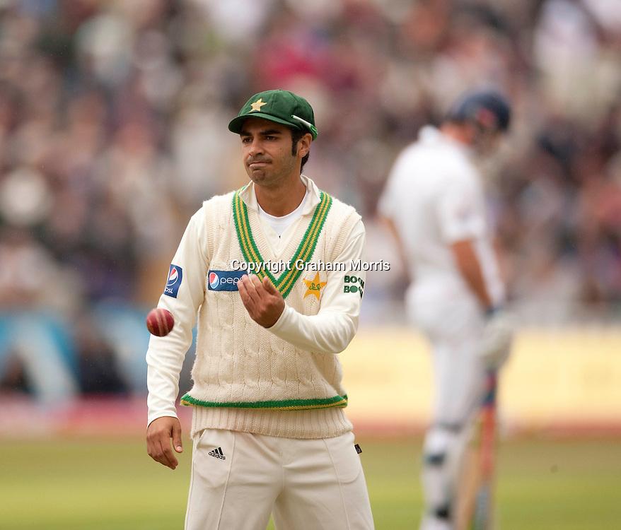 Captain Salman Butt during the second npower Test Match between England and Pakistan at Edgbaston, Birmingham.  Photo: Graham Morris (Tel: +44(0)20 8969 4192 Email: sales@cricketpix.com) 06/08/10
