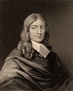 John Milton (1608-1674) English poet, born at Cheapside, London. Engraving.  British Literature