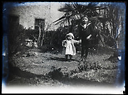 boy with little girl toddler sister France 1921