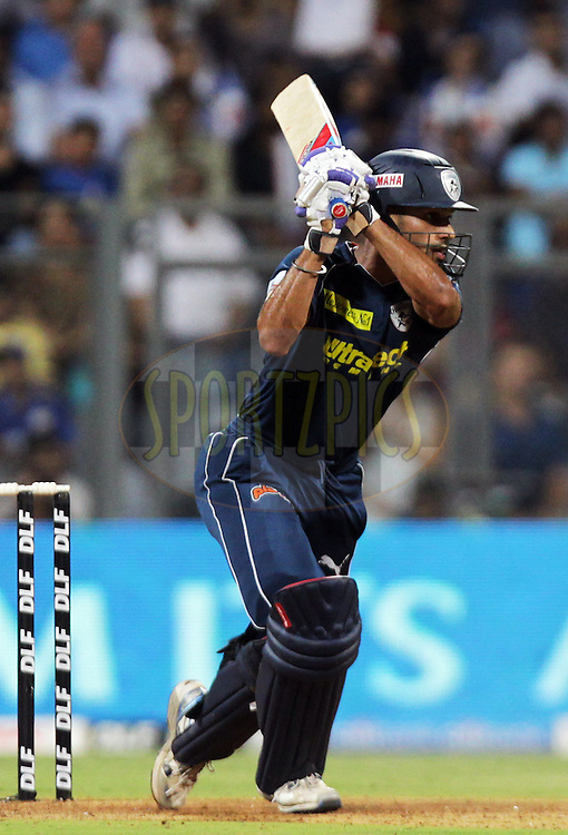 Deccan Chargers player Shikhar Dhawan bats during match 59 of the the Indian Premier League ( IPL ) Season 4 between the Mumbai Indians and the Deccan Chargers held at the Wankhede Stadium, Mumbai, India on the 14th May 2011..Photo by BCCI/SPORTZPICS.