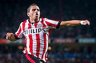 EINDHOVEN, PSV - AZ, voetbal Eredivisie seizoen 2014-2015, 18-10-2014, Philps Stadion, PSV speler Adam Maher heeft de 3-0 gescoord.