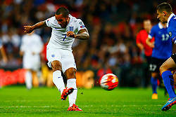 Theo Walcott of England shot is blocked - Mandatory byline: Jason Brown/JMP - 07966 386802 - 09/10/2015- FOOTBALL - Wembley Stadium - London, England - England v Estonia - Euro 2016 Qualifying - Group E