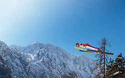 22.03.2018, Planica, Ratece, SLO, FIS Weltcup Ski Sprung, Planica, Skiflug, Einzelbewerb, Qualifikation, im Bild Stefan Kraft (AUT) // Stefan Kraft of Austria during the qualification for the Ski Flying Hill Individual competition of the FIS Ski Jumping World Cup Final 2018 at Planica in Ratece, Slovenia on 2018/03/22. EXPA Pictures © 2018, PhotoCredit: EXPA/ JFK
