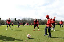 Connor trains with the players - Photo mandatory by-line: Dougie Allward/JMP - Mobile: 07966 386802 - 01/04/2015 - SPORT - Football - Bristol - Bristol City Training Ground - HR Owen and SAM FM