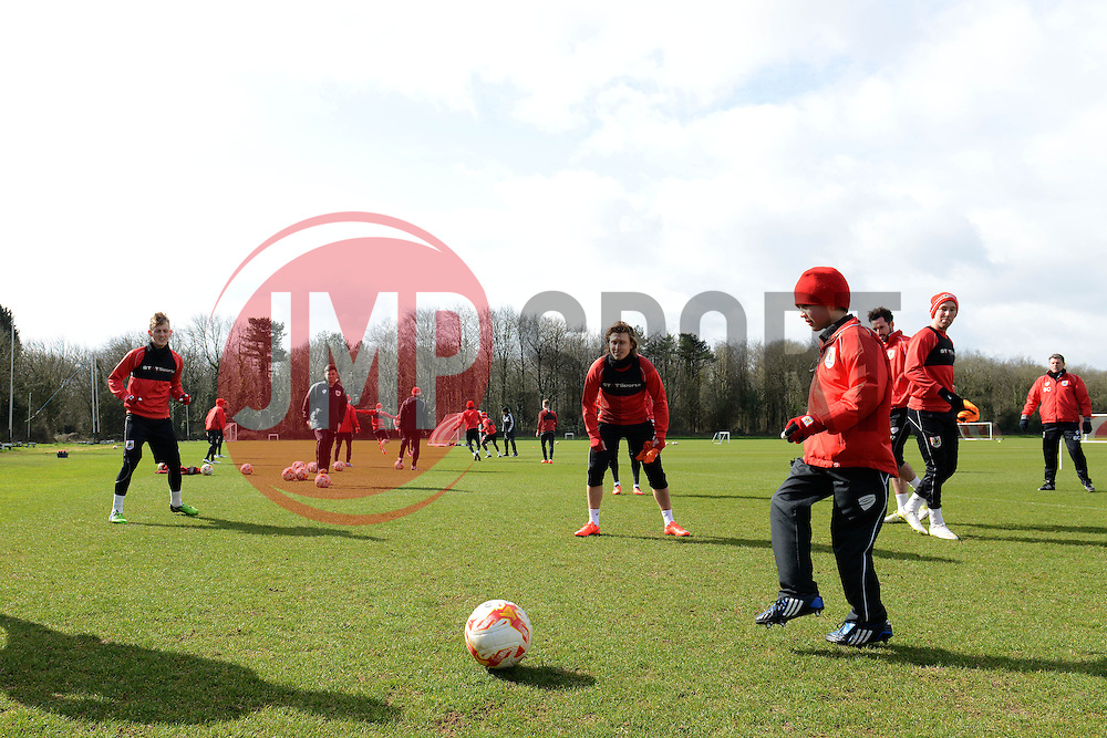 Connor trains with the players - Photo mandatory by-line: Dougie Allward/JMP - Mobile: 07966 386802 - 01/04/2015 - SPORT - Football - Bristol - Bristol City Training Ground - HR Owen and SAM FM