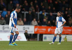 Bristol Rovers' Chris Beardsley walks off dejectedly after being sent off- Photo mandatory by-line: Matt Bunn/JMP - Tel: Mobile: 07966 386802 23/11/2013 - SPORT - Football - Burton - Pirelli Stadium - Burton Albion v Bristol Rovers - Sky Bet League Two