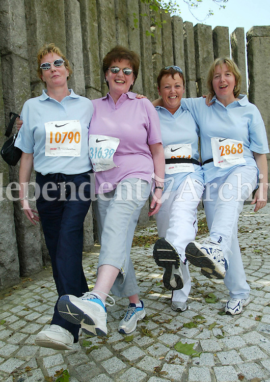 Mayo Ladies Teresa Mc Cabe,Anne Kernaghan with Patricia Jennings and Delia Queenan at the Mini Marathon (Copyright Independent News and Media)
