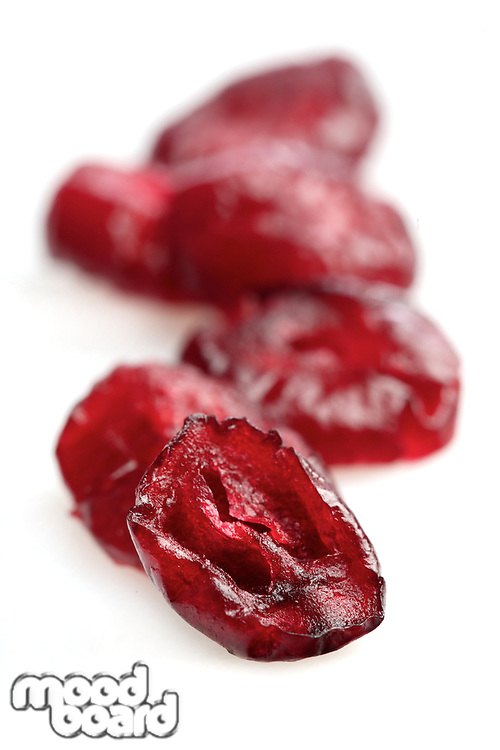Dried crunberry on white background