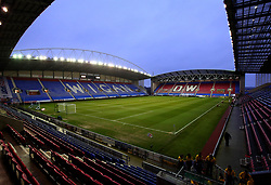 A general view of The DW Stadium, home of Wigan Athletic, ahead of the FA Cup Fifth Round match against Manchester City - Mandatory by-line: Robbie Stephenson/JMP - 19/02/2018 - FOOTBALL - DW Stadium - Wigan, England - Wigan Athletic v Manchester City - Emirates FA Cup fifth round proper