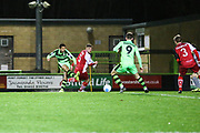 Forest Green Rovers Fabien Robert(26) shoots at goal scores a goal 1-0 during the Vanarama National League match between Forest Green Rovers and Solihull Moors at the New Lawn, Forest Green, United Kingdom on 21 March 2017. Photo by Shane Healey.