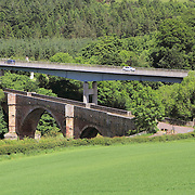 The view overlooking Drygrange Bridge & the main A68 artery road into the Scottish Borders