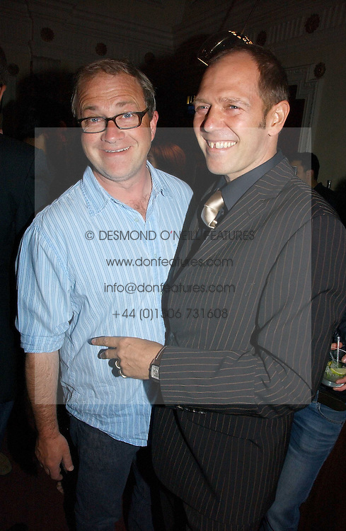 Left to right, HARRY ENFIELD and PAUL SIMONON at the Grand Classics screening of Brighton Rock hosted by Paul Simonon at The Electric Cinema, Portobello Road, London W11 on 5th June 2006.<br /><br />NON EXCLUSIVE - WORLD RIGHTS