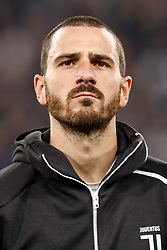 November 7, 2018 - Turin, Italy - Leonardo Bonucci of Juventus during the Group H match of the UEFA Champions League between Juventus FC and Manchester United FC on November 7, 2018 at Juventus Stadium in Turin, Italy. (Credit Image: © Mike Kireev/NurPhoto via ZUMA Press)