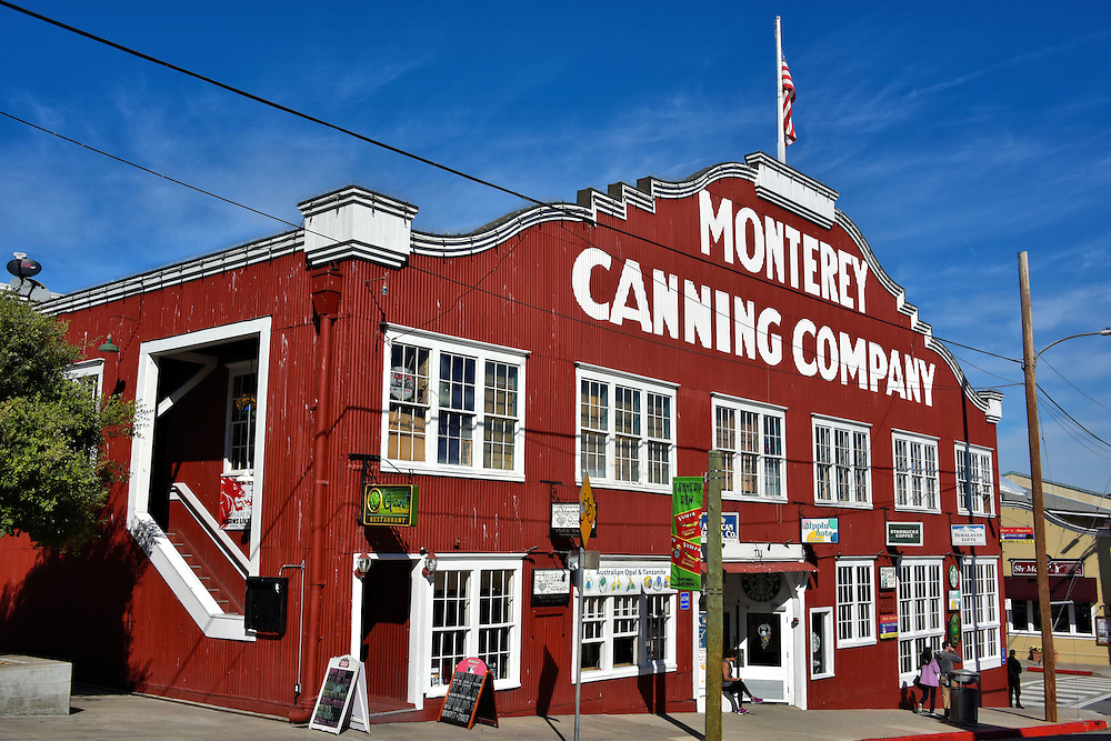 Monterey Canning Company in Monterey, California<br /> Chinese fisherman arrived along Monterey Bay during the 1850s but it wouldn&rsquo;t be until 1908 when the first commercial sardine cannery opened followed quickly by others.  They thrived during WWI but began to disappear when the fish did towards the end of WWII, leaving the waterfront abandoned.  Then, in 1968, the Sardine Factory restaurant opened and soon more entrepreneurs converted old buildings like the 1918 Monterey Canning Company into magnets for tourists.