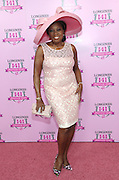 Star Jones poses at the Longines Kentucky Oaks Fashion Contest on Kentucky Oaks Day, Friday, May 1, 2015, in Louisville, Ky.  Longines, the Swiss watch manufacturer known for its luxury timepieces, is the Official Watch and Timekeeper of the 141st annual Kentucky Derby.  (Photo by Diane Bondareff/Invision for Longines/AP Images)